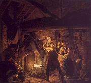 Joseph Wright The Forge oil painting artist
