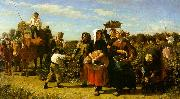 Jules Breton The Vintage at the Chateau Lagrange oil painting picture wholesale