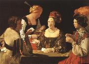 LA TOUR, Georges de Cheater with the Ace of Diamond dh oil painting picture wholesale