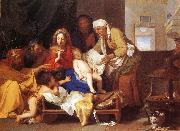 LE BRUN, Charles Holy Family with the Adoration of the Child s oil painting picture wholesale