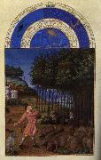LIMBOURG brothers Les trs riches heures du Duc de Berry: Novembre (November) dg oil painting picture wholesale