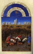 LIMBOURG brothers Les trs riches heures du Duc de Berry: Dcembre (December) sdg oil painting picture wholesale