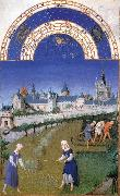 LIMBOURG brothers Les trs riches heures du Duc de Berry: Juin (June) edf oil painting picture wholesale
