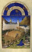 LIMBOURG brothers Les trs riches heures du Duc de Berry: Juillet (July) dh oil painting picture wholesale