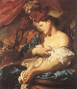 LISS, Johann The Death of Cleopatra sg oil painting artist