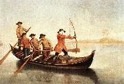 LONGHI, Pietro Duck Hunters on the Lagoon s oil painting picture wholesale