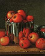 Levi Wells Prentice Apples in a Tin Pail oil