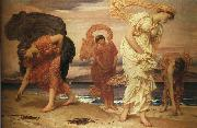Lord Frederic Leighton Greek Girls Picking Up Pebbles by the Sea oil painting picture wholesale