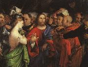 Lorenzo Lotto Christ and the Adulteress oil painting picture wholesale