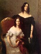 Louis-Edouard Dubufe Portrait of Two Sisters oil painting artist