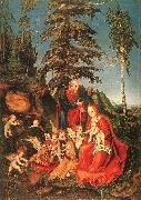 Lucas  Cranach The Rest on the Flight to Egypt oil painting artist