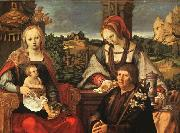 Lucas van Leyden Madonna and Child with Mary Magdalene and a Donor oil painting picture wholesale