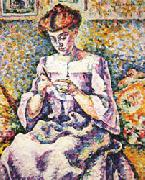 Lucie Cousturier Woman Crocheting oil painting picture wholesale