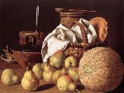 MELeNDEZ, Luis Still-life with Melon and Pears sg oil painting picture wholesale