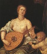MICHELI Parrasio The Lute-playing Venus with Cupid ASG oil painting picture wholesale