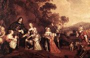 MIJTENS, Jan The Family of Willem Van Der Does s oil painting artist