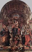 MONTAGNA, Bartolomeo Madonna and Child Enthroned with Saints sg oil painting artist