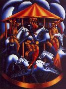 Mark Gertler The Merry Go Round oil painting artist