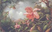 Martin Johnson Heade Hummingbirds and Two Varieties of Orchids oil painting picture wholesale
