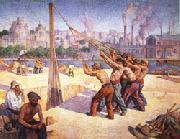 Maximilien Luce The Pile Drivers oil painting picture wholesale