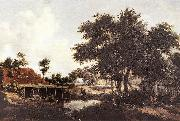 Meindert Hobbema The Water Mill oil painting picture wholesale
