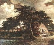 Meindert Hobbema Landscape with a Hut oil painting picture wholesale