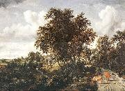 Meindert Hobbema Road on a Dyke oil painting picture wholesale