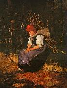 Mihaly Munkacsy Woman Carrying Faggots oil painting picture wholesale