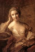 NATTIER, Jean-Marc Portrait of a Young Woman Painter sg oil painting artist