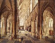 NEEFFS, Pieter the Elder Interior of a Church ag oil
