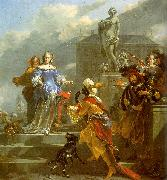 Nicholaes Berchem A Moor Presenting a Parrot to a Lady Germany oil painting reproduction