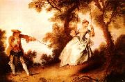Nicolas Lancret Woman on a Swing oil painting artist