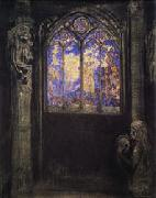 Odilon Redon Stained-Glass Window oil painting