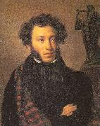 Orest Kiprensky The Poet, Alexander Pushkin oil painting artist