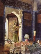 Osman Hamdy Bey Old Man before Children's Tombs oil painting artist