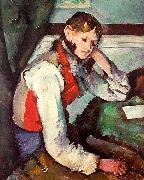Paul Cezanne Boy in a Red Waistcoat Germany oil painting reproduction