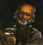 Paul Cezanne Head of and Old Man oil
