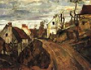 Paul Cezanne Village Road oil painting picture wholesale