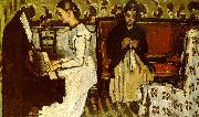 Paul Cezanne Girl at the Piano Germany oil painting reproduction