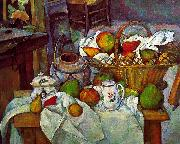 Paul Cezanne Vessels, Basket and Fruit Germany oil painting reproduction