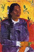 Paul Gauguin Vahine No Te Tiare oil painting reproduction