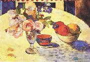 Paul Gauguin Flowers and a Bowl of Fruit on a Table  4 oil painting picture wholesale