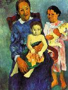 Paul Gauguin Tahitian Woman with Children 4 oil painting reproduction