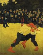 Paul Serusier Breton Wrestling oil painting picture wholesale