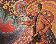 Paul Signac Portrait of M.Felix Feneon in 1890 oil painting picture wholesale