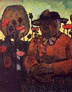 Paula Modersohn-Becker Old Poorhouse Woman with a Glass Bottle oil painting artist