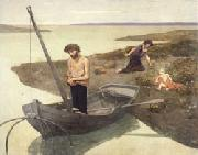 Pierre Puvis de Chavannes The Poor Fisherman oil painting artist