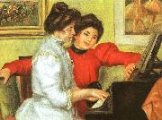 Pierre Renoir Yvonne and Christine Lerolle Playing the Piano oil painting picture wholesale