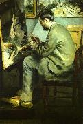 Pierre Renoir Bazille at his Easel oil painting picture wholesale