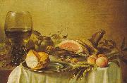 Pieter Claesz Breakfast with Ham oil